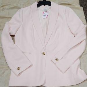 J Crew size 10 soft pink blazer